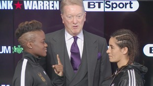 Nicola Adams squares up to opponent ahead of pro debut