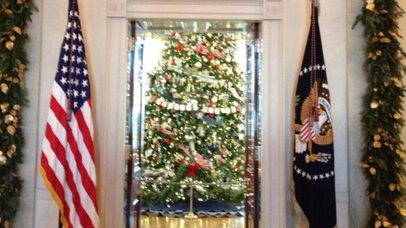 White House Christmas Michelle Obama
