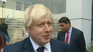 Boris Johnson is on a trade trip to India