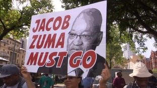 South African protests call on President Zuma to stand down over corruption scandals