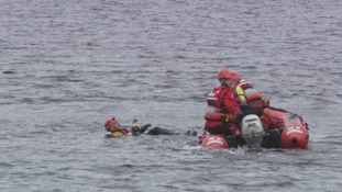 The fire service carry out a practise rescue.