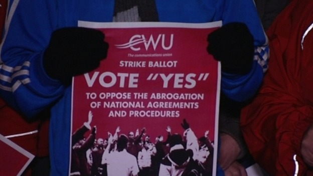 The CWU are threatening to strike over Royal Mail&#x27;s pay and working conditions.