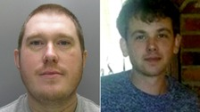 Matthew Sharpe, left, has been jailed for murdering Andrew Hasler, right.