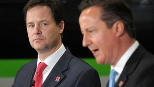 Prime Minister David Cameron with Deputy Prime Minister Nick Clegg