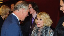 Prince Charles greets US comedian Joan Rivers