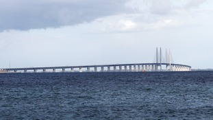 The Øresund Bridge links Copenhagen and Malmö.