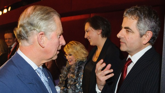 The Prince of Wales with Rowan Atkinson