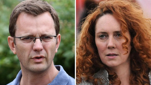 Andy Coulson and Rebekah Brooks will appear in court later today