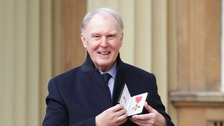 Tim Pigott-Smith collecting his OBE just last month.