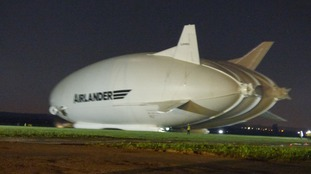 Airlander leaves Bedfordshire hangar for first time since crash
