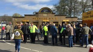 Fans in Melrose