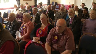 The audience at the launch of Ukip's local election campaign in Northamptonshire.