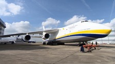 The Antonov 124 at Stansted Airport.