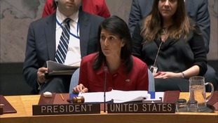 Nikki Haley, US envoy to the UN, said the US was prepared to take more action in Syria if necessary.
