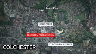 A 61-year-old man was attack in a takeaway in Colchester.