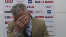 Keith Curle was deflated in the post-match press conference