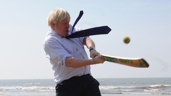 The Mayor of London attempts a Kevin Pietersen esc pull shot.