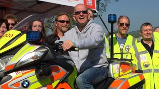 Prescott Bike Festival: Eddie the Eagle turns out to support blood bikes charity