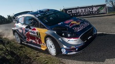 Sebastien Ogier in action on the Tour De Corse