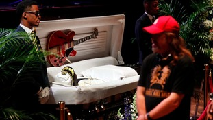 Tributes to 'Father of Rock'n'Roll' Chuck Berry at his funeral