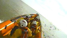 The crew of the Clacton lifeboat on an earlier rescue mission.