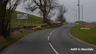 Motorcyclist dies after Weardale crash