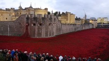 Millions of people flocked to the Tower of London to see the exhibit.