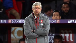 Arsenal manager Arsene Wenger appears dejected during the Premier League match at Selhurst Park