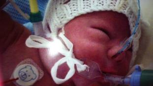 Abigail in hospital