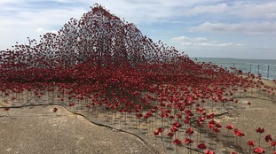 The eye-catching installation at Shoeburyness in Essex.