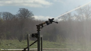 Irrigation has started early at the Euston Estate on the Norfolk/Suffolk border.