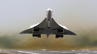 A British Airways Concorde takes off for a test flight from London's Heathrow Airport in 2001.