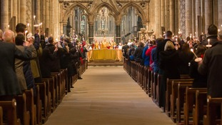 Service at Durham Cathedral