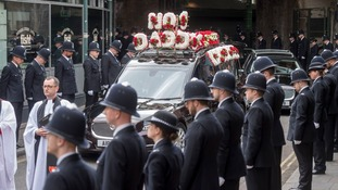 Thousands of officers lined London's streets for the funeral.