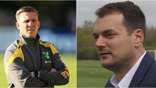 Stuart Webber (right) could be prepared to let Ricky Martin (left) leave Carrow Road.