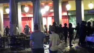 Eight arrested after Leicester fans clash with police in Madrid
