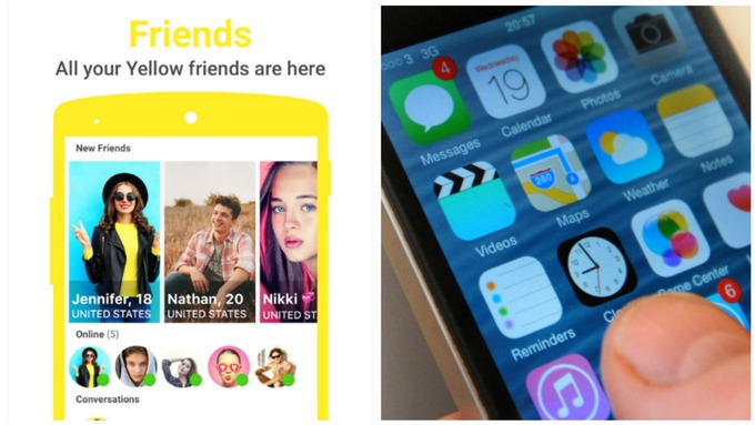 'Tinder for teens' app Yellow puts children at risk of sex predators,  Northumbria Police warns