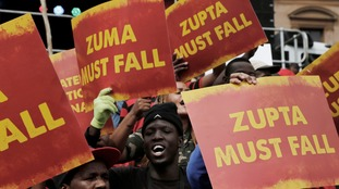 Thousands protest against South African president Zuma on his 75th birthday