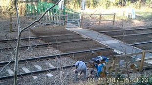 Children were seen throwing stones at the overhead lines