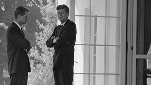 John F. Kennedy (right) was president during the Cuban Missile Crisis.