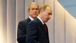Vladimir Putin and George W. Bush did not always see eye-to-eye.