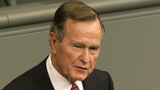 George HW Bush has recently recovered from bronchitis