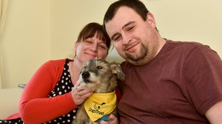 Scruffy has found a home with Matthew Deery and Sarah Jarvis.