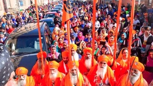 Thousands attend a Vaisakhi parade