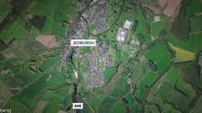 Police say a suspicious van was seen parked off the A68 before the assault