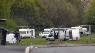 Residents 'up in arms' after traveller caravans set up camp close to primary school