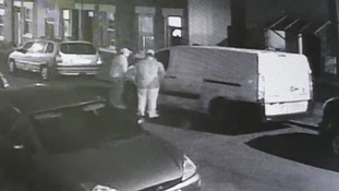CCTV released of two men breaking into a van in Derby