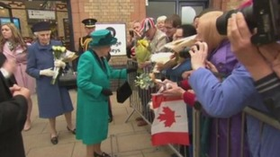 VIDEO: The Queen visits Leicester Cathedral