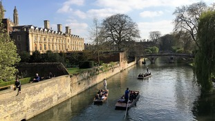 Cambridge is the only area in the East of England where house prices are falling.