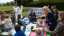 Activities included face painting and balloon modelling